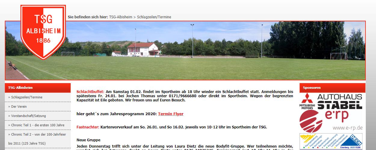 Homepage der TSG-Albisheim