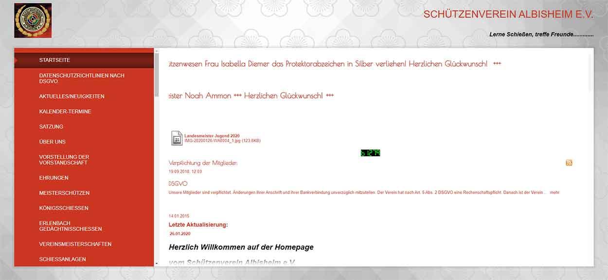 Homepage des Schützenvereins Albisheim
